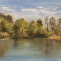 Lake – Hampshire and Dorset Art Tutor Jean Baylis – Morning Calm