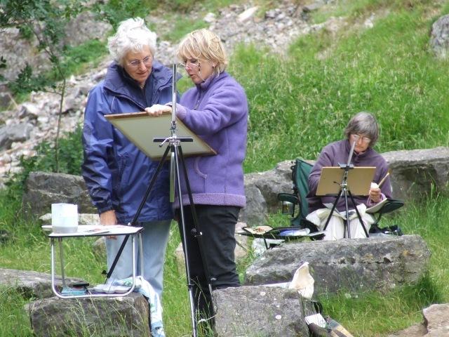 Isle of Wight Art Classes en plein air - St Helens Artist Becky Samuelson