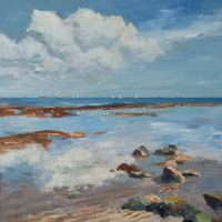 Isle of Wight Reflections – Coastal Artist Becky Samuelson SWA