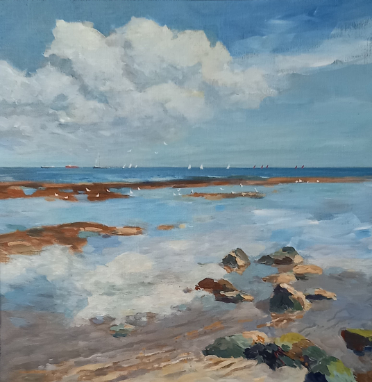 Isle of Wight Reflections - Coastal Artist Becky Samuelson SWA