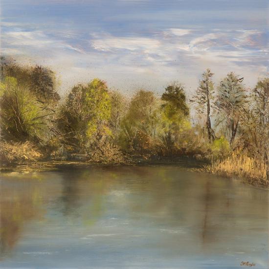 Lake - Morning Calm - Hampshire and Dorset Art Tutor Jean Baylis