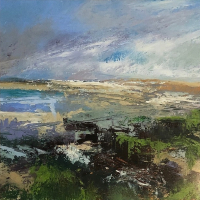 Lepe Beach, Hampshire – Seascape Painting – Karen Eames