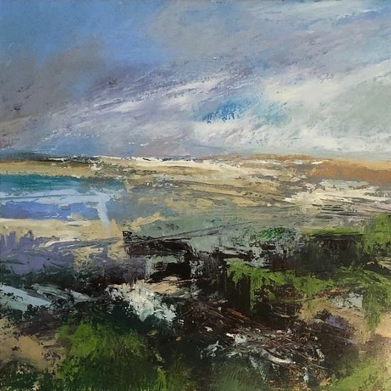 Lepe Beach, Hampshire - Seascape Painting - Karen Eames