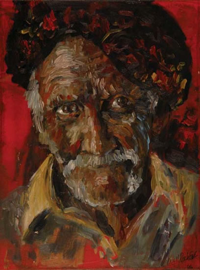 Man in Turban - Portrait by William Rochfort