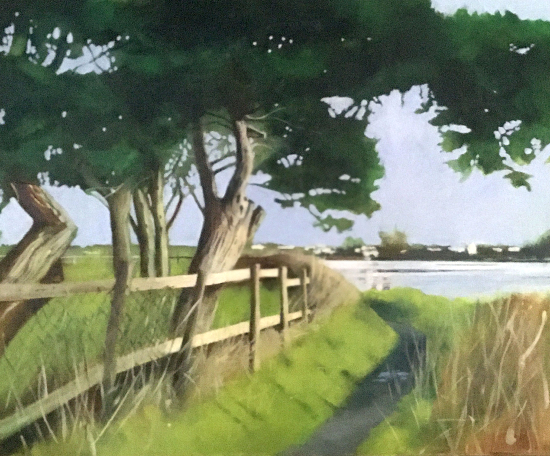 Mengham Creek Hayling Island Hampshire - Artist Mike Johnson