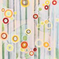 Modern Abstract Art – Hampshire Artist Tessa Coe – Dangling Conversation 1