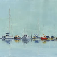 Isle of Wight – River Medina – Moored Boats – Sailing Art Gallery