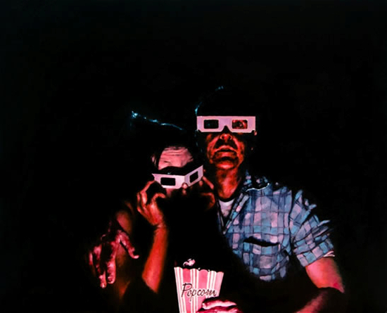 Movies and Theatre - 3D Glasses - Lymington Hampshire Artist William Rochfort