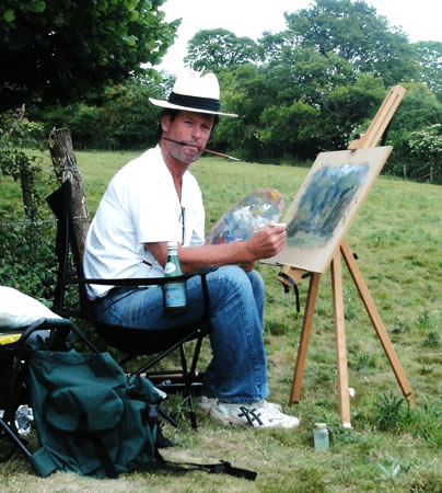 Nick Walsh-Hartley Witney Artist, at work