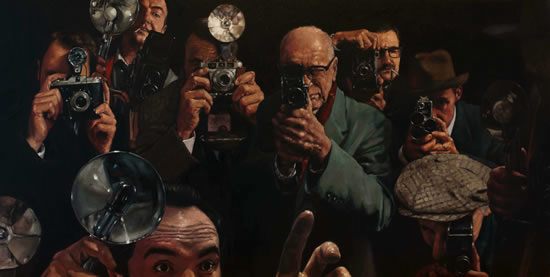 Paparazzi Photographers - William Rochfort - Fine Art Oil Paintings and Limited Edition Prints