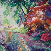 Ramster Gardens Chiddingfold Farnham Art Society Artist Nicholas Walsh