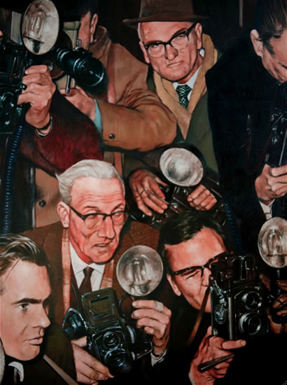 Photographers - Paparazzi - Shutterbugs - Hampshire Art Gallery - Lymington Artist William Rochfort