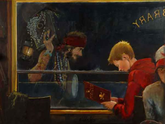 Pirates - Child's Imagination - Hampshire Artist William Rochfort Art Gallery