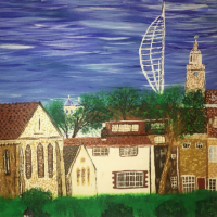 Hampshire – Royal Garrison Church, Spinnaker Tower,  Portsmouth Cathedral – Petersfield Artist Mahmood Roostaei