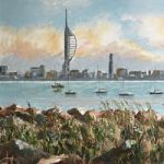 Portsmouth Hampshire – View from Gosport Waterfront – Spinnaker Tower – David Whitson
