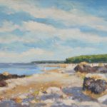 Priory Bay, Isle of Wight – Oil Painting – Society of Women Artists – Becky Samuelson