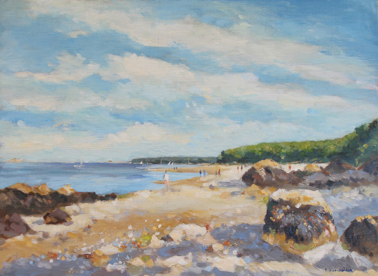 Priory Bay, Isle of Wight - Oil Painting - Society of Women Artists member Becky Samuelson