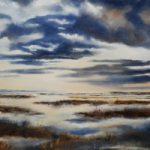 Hampshire Dorset border Artist and Art Tutor Jean Baylis – Mist and Sky