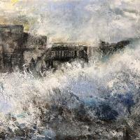 Winchester Hampshire Artist – Seascape – Storm – Karen Eames