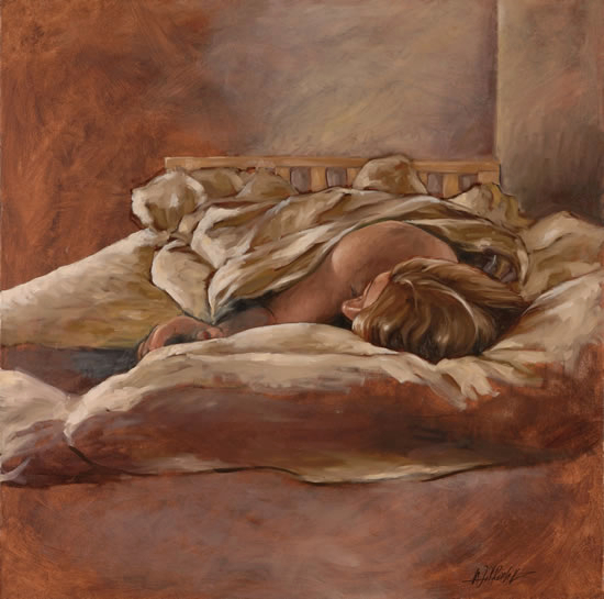 Sleeping Woman Painting - Lymington Hampshire Artist William Rochfort