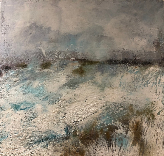 Snow Landscape - Out in the Cold - Hampshire Artist Karen Eames