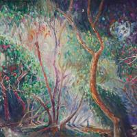 Spring Trees – Hampshire Fine Artist and Art Tutor Nicholas Walsh