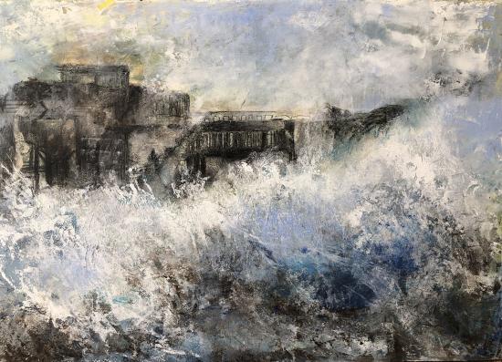 Stormy Sea, Broken Heart - Seascape - Winchester Hampshire Artist Karen Eames
