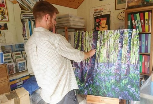 Ted in the Studio - Bluebells, Rookwood