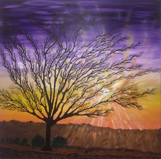 Tree - Sunrise - Cissbury Ring West Sussex - Mahmood Roostaei