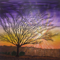 Tree – West Sussex Sunrise Sunset – Mahmood Roostaei Art Gallery