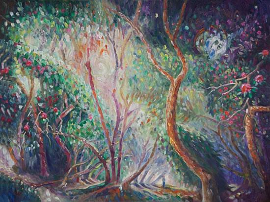 Trees - Spring - Hampshire Fine Artist and Art Tutor Nicholas Walsh