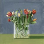Tulips in Glass Vase – Gosport Hampshire Artist David Whitson – Flowers Art Gallery