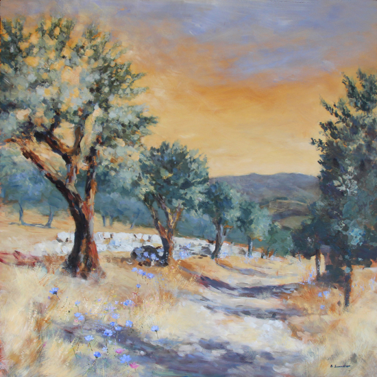 Tuscan Olive Grove-Hampshire Art Gallery Artist Becky Samuelson