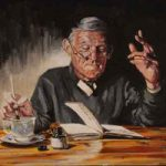 Vicar Scene from Dylan Thomas – Under Milk Wood – English Artist – William Rochfort