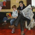 Waiting-Room – Father and Son – Lymington Hampshire Fine Artist William Rochfort