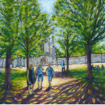Winchester – Cathedral – Tree-Lined Path – Landscape Art – Ted Hepenstal