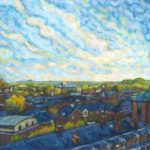 Winchester Rooftops in Autumn – Landscape Art Gallery – Artist Ted Hepenstal