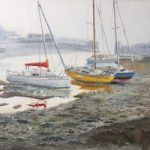 Boats at Titchfield Haven Wetland Nature Reserve Hill Head – Hampshire Art Gallery – Gosport Artist David Whitson