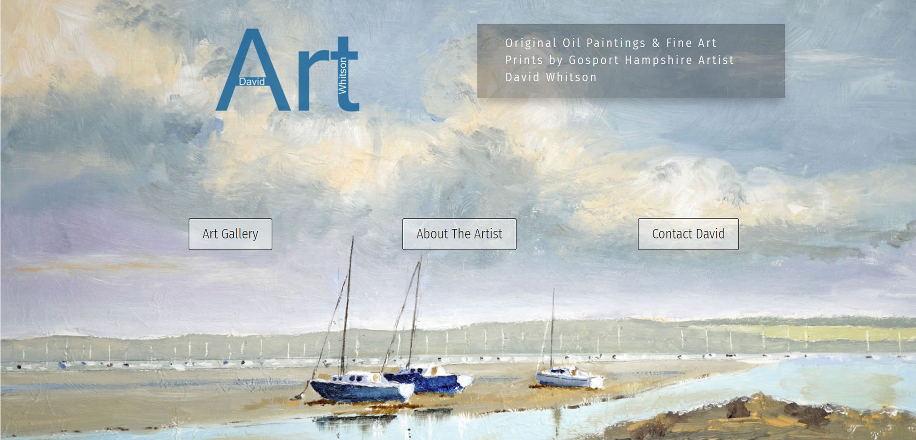 Hampshire New Art Website Build for Gosport near Portsmouth Artist David Whitson