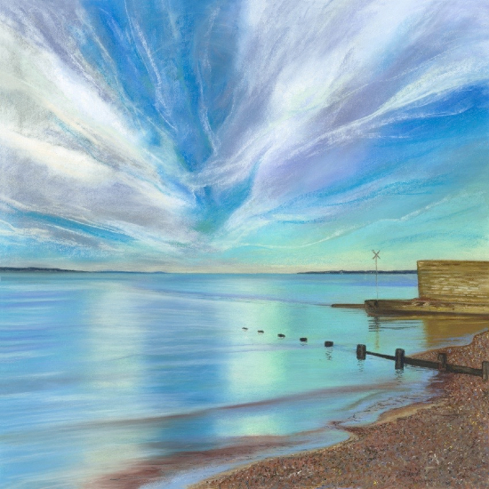 Pastel Art - Hampshire Artists Gallery - Seascape - Jennifer Thorpe