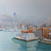 Portsmouth Harbour with Spinnaker Tower – Hampshire Art Gallery