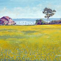 Buttercup Meadow – Priddys Hard Gosport – Fareham Art Group Artist David Whitson