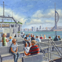Gosport Ferry Portsmouth Hampshire – Gosport Art Group Artist David Whitson