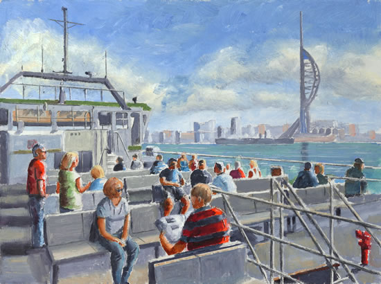 Gosport Ferry - Portsmouth Hampshire - Gosport Art Group Artist David Whitson