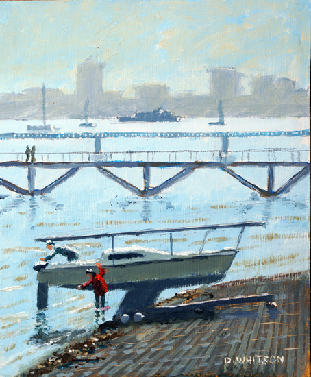 Gosport - Hardway Sailing Club Foreshore - Coastal Artist David Whitson