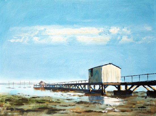 Gosport - Sultans Jetty Hardway - High-Summer - David Whitson Seascape and Landscape Artist