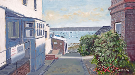 Gosport Towards the Harbour Old Hardway Lane Prints for sale - Gosport Art Group Artist David Whitson