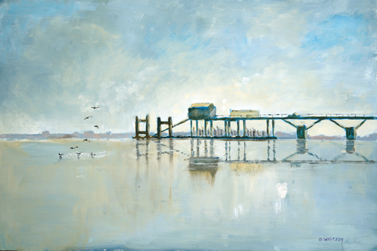 Hardway Gosport Old Jetty Fine Art Prints and Painting For Sale - David Whitson