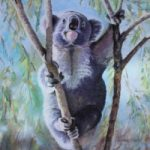 Koala – Australia – After the Fires – Wildlife Artist and Ringwood Art Society member Pauline Scott