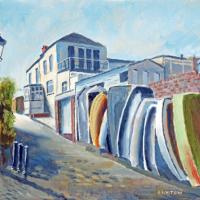 Old Hardway Lane Gosport – Landscape Artist and Gosport Art Group member David Whitson